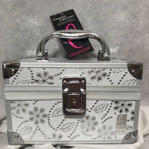 NWT Caboodle Bag Fall Favorite! Silver Metal Shiny